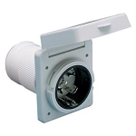 Marinco 50A Receptacle, White