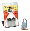 2pk  Quick Disconnect Padlock, 302