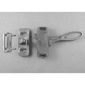 Heavy Duty Screen Door Latch, Storm Door Latch, Black