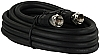 6' RG-6 Audio / Video Cable Black, 47425