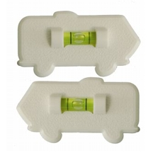One Pair Stick on RV Levels, White by Prime Products 28-0121