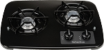 2 Burner Drop-In Cooktop Black, 2937ABK