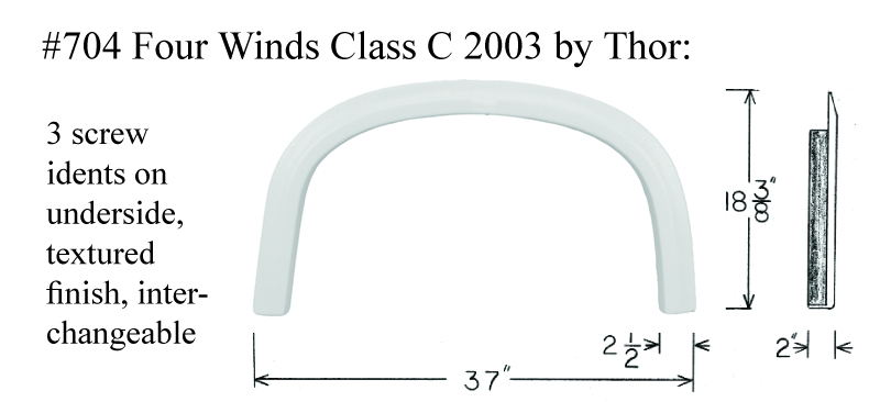 2003 Four Winds by Thor Class C Fiberglass Fender Skirt  37