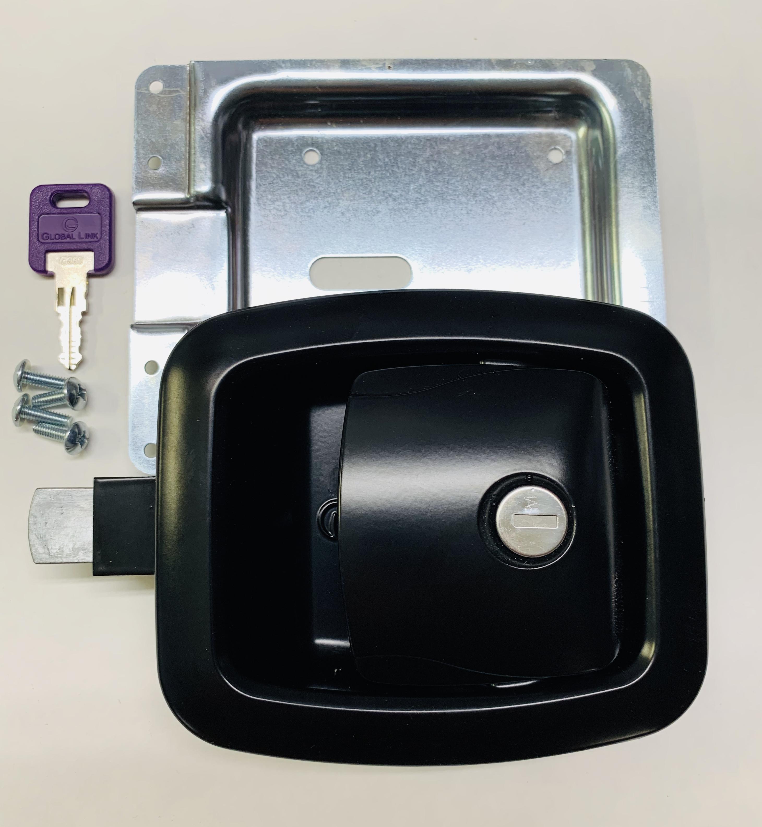 Locking Slam Latch, Black BLL-50101-2006