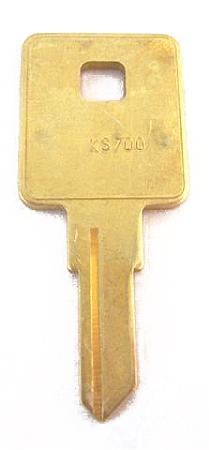 TriMark Key KS700 Short 5-Wafer (Key Blank) For Key Codes TR1200-1259