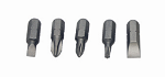 Set Of 5 Screw Bit 1/4