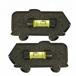 Set of 2 Motorhome Shaped Bubble RV Level Black, 28-0111