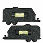 Set of 2 Trailer Shaped Bubble RV Level Black, 28-0112