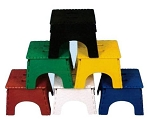 6pk  E-Z Foldz Stool Assorted Colors, 101-6AS