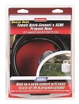 6 Foot Low Pressure Propane Hose Female Quick-Connect x ACME