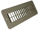 Floor Heating / Cooling Register Without Damper Tan, 288-86-A-TN-A