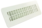 Floor Heating / Cooling Register With Damper Polar White, 288-86-AB-PW-A