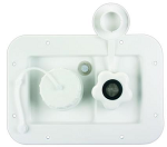 Fresh Water Inlet w/o Hatch With Plastic Check Valve Polar White, 497-AB-2P-A