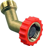 45 Degree Brass Fresh Water Hose End Protector, 62225
