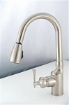 American Brass Kitchen Faucet - Brushed Nickel Plated