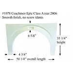 2006 Coachmen Epic Class A Rear Fiberglass Fender Skirt 50 1/4