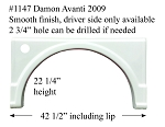 2009 Damon Avanti Left Side Fiberglass Fender Skirt 42 1/2