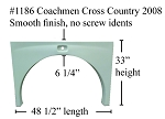 2008 Coachmen Cross Country Fiberglass Fender Skirt  48 1/2
