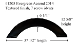 2014 Evergreen Ascend Fiberglass Fender Skirt  37 1/2