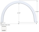 Icon Fender Skirt FS2123 Polar White 40
