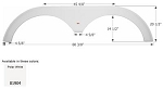 Icon Fender Skirt FS1904 Polar White 80 3/8