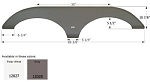 Icon ABS Plastic Fender Skirt FS2027 Grey 69 3/8