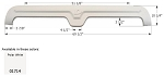 Icon Fender Skirt FS1714 Polar White 69 1/2
