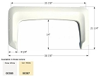 Icon ABS Plastic Fender Skirt FS300 Polar White 38 7/8
