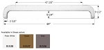 Icon Fleetwood Tandem  ABS Plastic Fender Skirt Polar White FS730  64