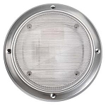 Round Porch Light with White Frame, 016-RSL2000