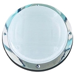 Clear Porch Light Lens with Black Frame, 016-RSL2000B