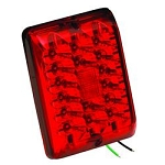 LED Trailer Light Stop/ Tail/ Turn Red, 47-84-420