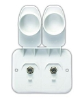 TV Cable Entry Plate Polar White, 543-B-2-A