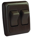Double Multi Purpose Switch Brown, 12145