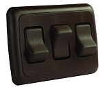 Triple Multi Purpose Switch Brown, 12155