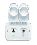 TV Cable Entry Plate Polar White, 94322