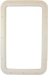 Entry Door Interior Window Frame - Ivory