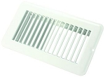 Floor Heating / Cooling Register Without Damper Polar White, 02-28945
