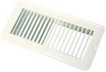 Floor Heating / Cooling Register Without Damper Polar White, 02-28985
