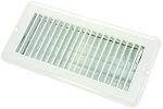 Floor Heating / Cooling Register With Damper Polar White, 02-29005