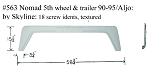 1990-1995 Skyline Nomad 5th Wheel, 1990 Aljo Fiberglass Fender Skirt  58 3/4