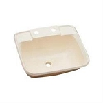 LaSalle Bristol Single Bowl Bath Sink White ABS Plastic 16186PWA