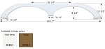 Icon Fleetwood Tandem Fender Skirt FS1811 ABS Plastic Taupe 68 1/2