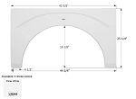 Icon ABS Plastic Fleetwood Fender Skirt 44 1/4