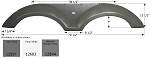 Icon Coachmen Fender Skirt FS2597 Polar White 70 1/2