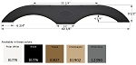 Icon ABS Plastic Fender Skirt FS1770 Champagne 69 3/8