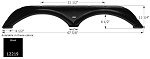 Icon Fender Skirt FS2219 Black 67 5/8
