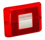 Red Tail Light Lens with Backup Horizontal 84/85/86 Series