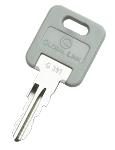 G391 Global Link Compartment Lock Key, 1 Pair