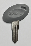 Bauer RV700 Gray Head Key Blank, Pair